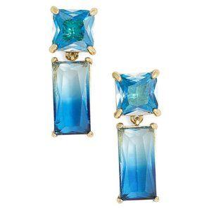 NEW Kate Spade Baguette CZ Blue Drop Earring